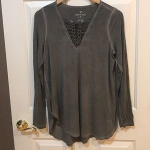 American Eagle Outfitters Soft & Sexy L/S Top L